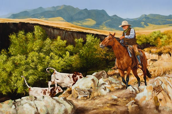 "Raymond Wattenhofer Original Art ""Tails To the Wind"" Oil Painting."
