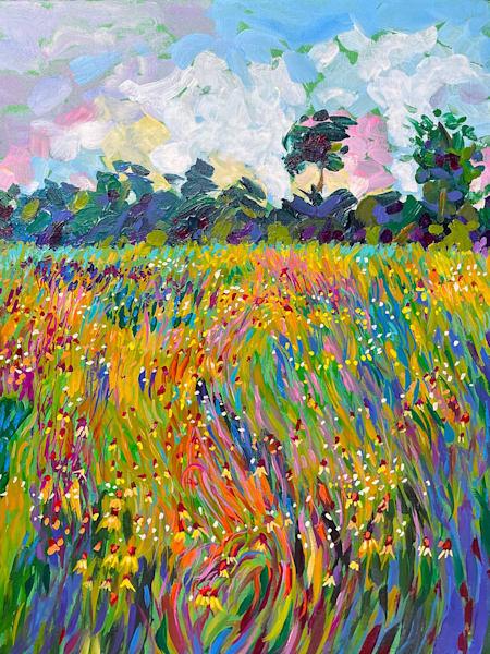 Dreaming Of Spring Wildflowers Art | Charles Wallis