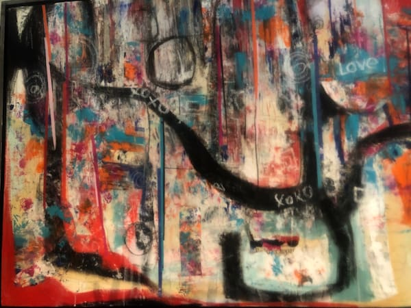 De Veuve Alexis Love Notes 38 X 50  Mixed Media And Collage Art | MardisArt