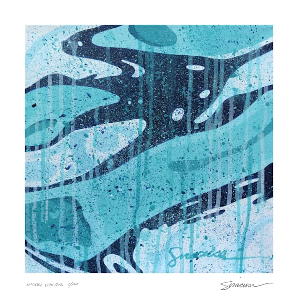"Nastri D'acqua 12"" X 12"" Limited Edition Print Art 