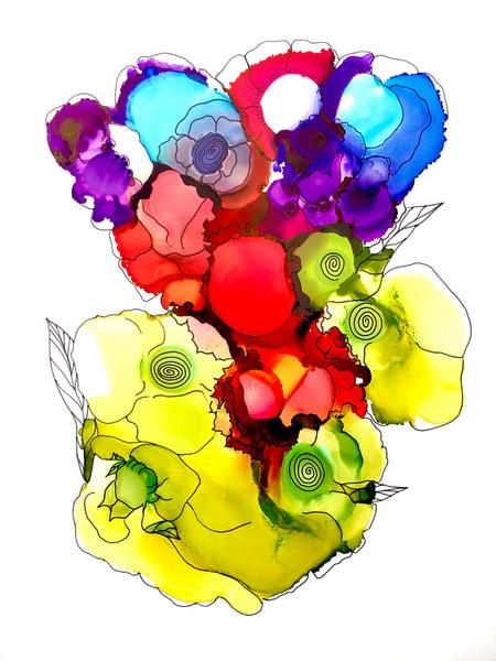 Bouquet 8 Art | Sandy Smith Gerding Artwork
