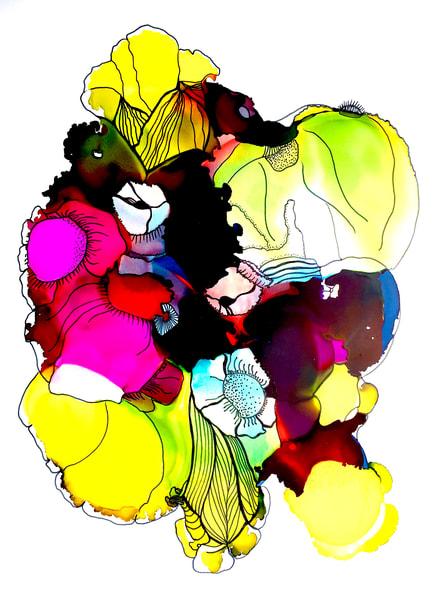 Deep Floral 18 Art | Sandy Smith Gerding Artwork