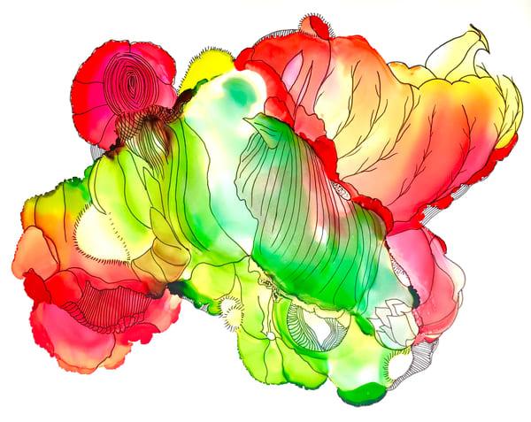 Poppy Hybrid Art | Sandy Smith Gerding Artwork