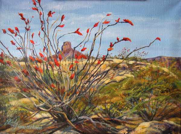 Lindy Cook Severns Art | Ocotillo at San Jacinto Peak, print