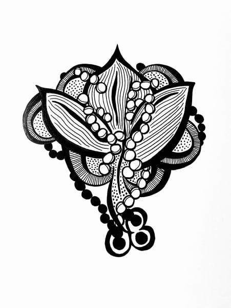 Pearled Floral Art | Sandy Smith Gerding Artwork
