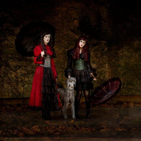 Sister On A Dog Walk Photography Art   Jim Graham Photography