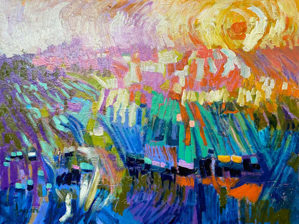 Original Oil Painting Abstract Dreamscape by Dorothy Fagan