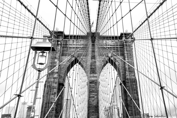 NYC Icons | The Brooklyn Bridge Architectural Beauty B&W Fine Art Prints for sale