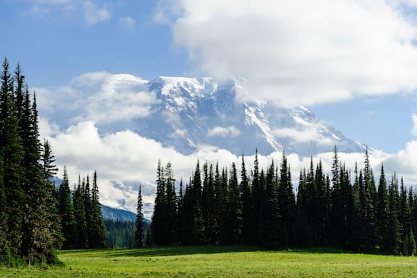 Mount Rainier Shrouded by Clouds, Grand Park, Washington, 2016