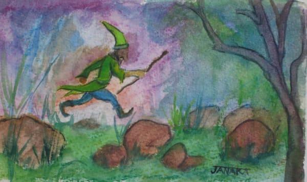 Hopping Over Stones Art | janakastagnaro