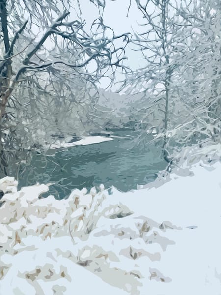 Boise River Snow Art | IN the Moment Creative