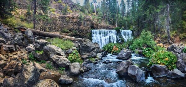 Mc Cloud River Falls Panorama Art | Patrick Cosgrove Art and Photography