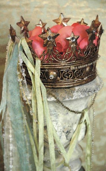Vintage Crown with Rose Petals Art