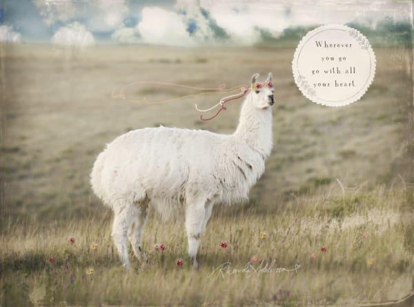 Go with all your heart Llama art