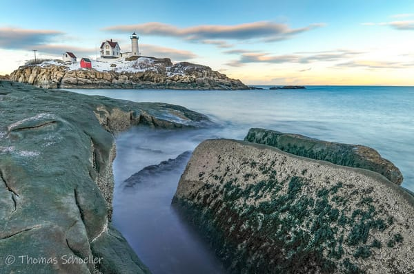 Cape Neddick Lighthouse - Coastal Maine Fine Art prints by Thomas Schoeller