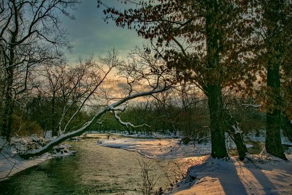 Spring River Sunrise Curve 3007 Fss Art | Koral Martin Fine Art Photography