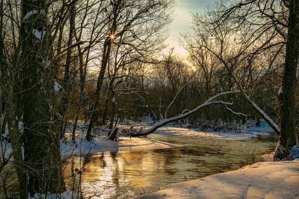 Spring River Sunburst Sunrise 2986 Fss Art | Koral Martin Fine Art Photography