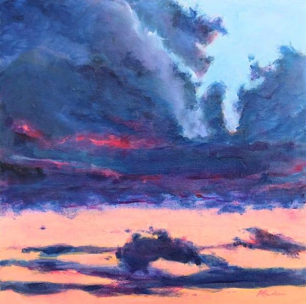 Peach Horizon Art | Lesley McVicar Art