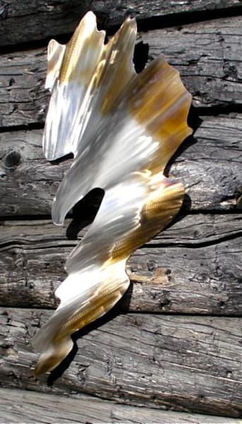 Aurora Eagle Metal Wall Sculpture Art | treshamgregg - spiritart
