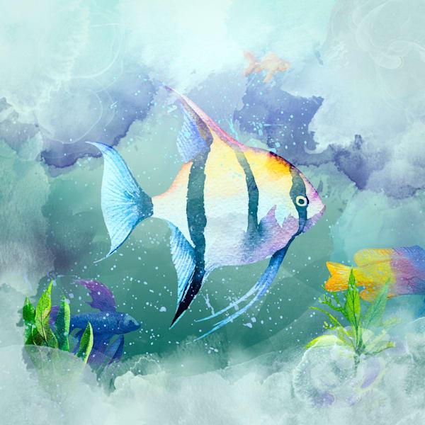 Swimming The Deeps With Friends Art | Karen Hutton Fine Art