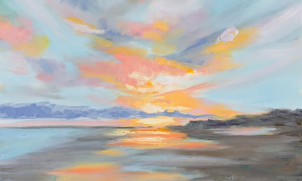 Giclee Print Pastel Clouds at Folly Beach - Panoramic by April Moffatt