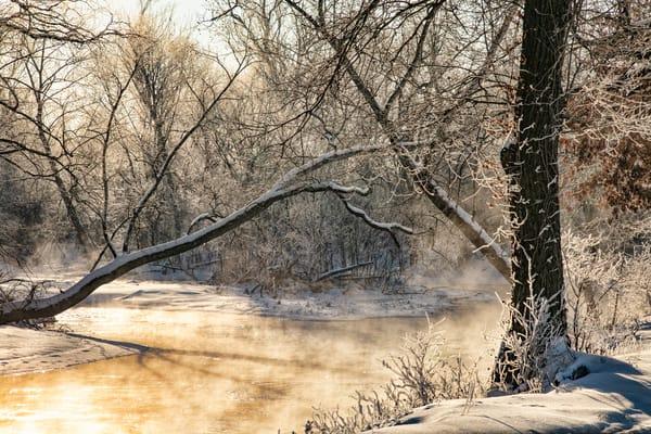 Around The Curve  Winter Sunrise Shot At Sprint River 3464 Photography Art | Koral Martin Fine Art Photography