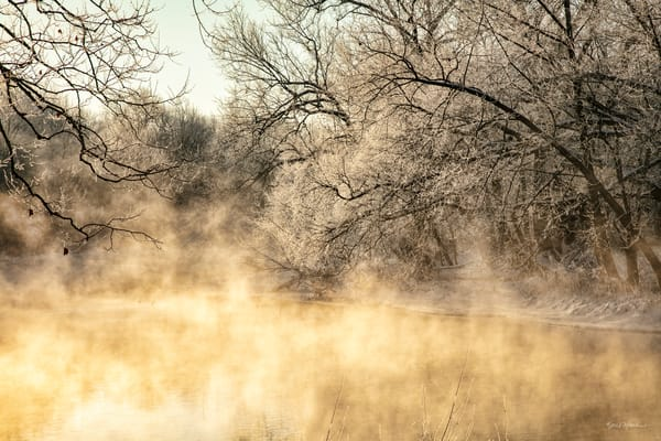 Steamy Glow On Spring River  3393 Art | Koral Martin Fine Art Photography