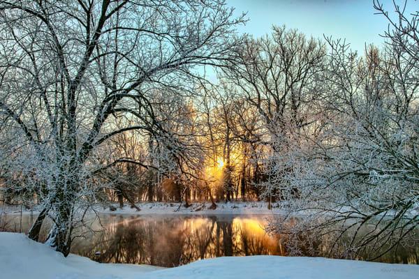 Steamy Sunrise Spring River Winter 3275 Art | Koral Martin Fine Art Photography