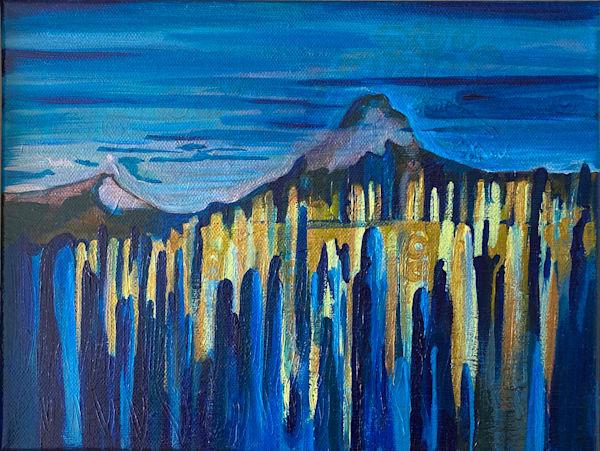 Evoling Landscape No.3 9x12 Art   Mina Vancardo
