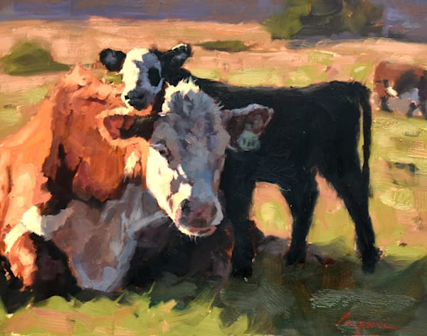 Cow And Calf  Art   robincaspari