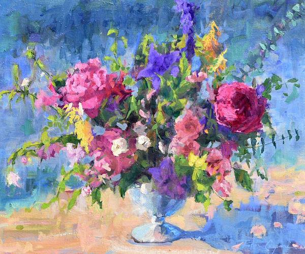 Flower Field Art   robincaspari