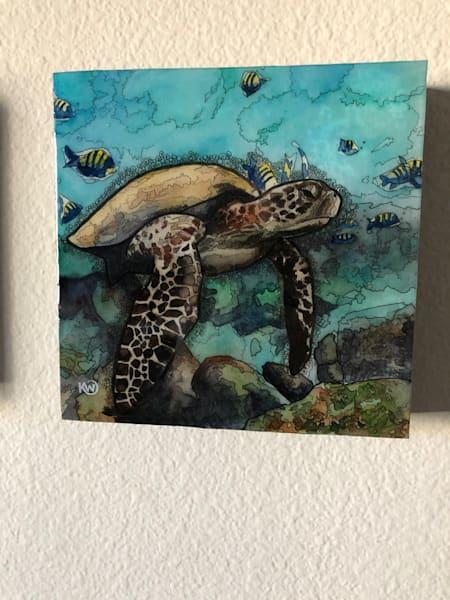 Sea Turtle 2 Art   Water+Ink Studios