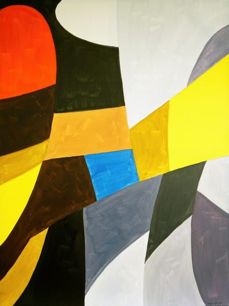 Lady With Man In Hat Art | Maciek Peter Kozlowski Art