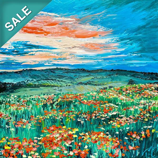 Mr. Blue Sky   Original Oil Painting Art | Tessa Nicole Art