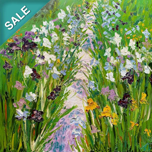 Iris Garden   Original Oil Painting Art | Tessa Nicole Art