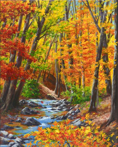 Vibrant Glen Art   Roxana Sinex Art