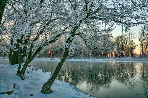 Spring River Freezing Fog   3261 Art | Koral Martin Fine Art Photography