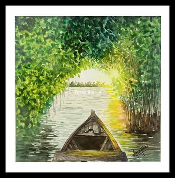"""Wanderer"" in Watercolors by Aprajita Lal (Original 8X8)"