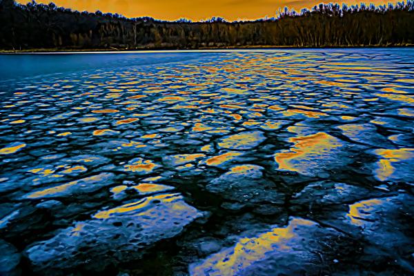 Melting Ice At Sunrise Photography Art   Silver Spirit Photography