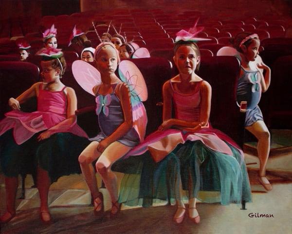"""The Dress Rehearsal"" Original Artwork by Emily Gilman Beezley"