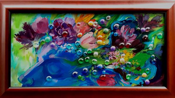 Original painting April showers