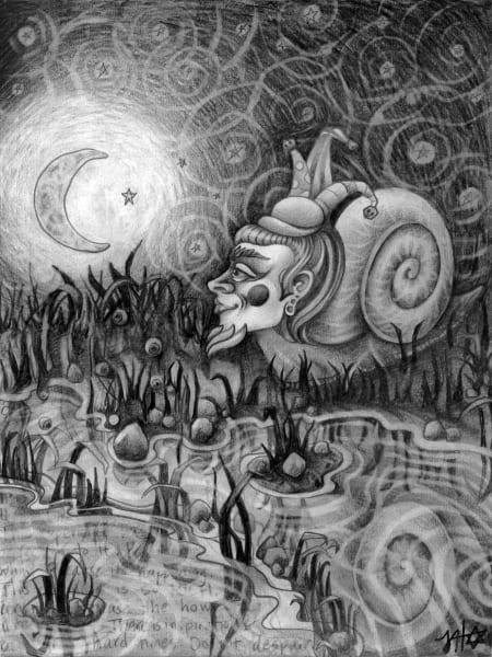 Shellf Reflection - Original Drawing For Sale - The Art of Ishka Lha