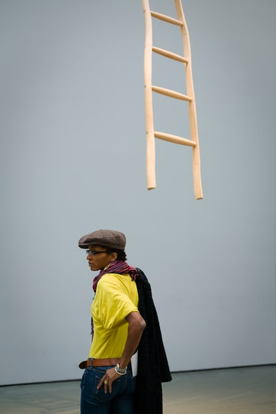 Art Lover And Ladder Photography Art | Ed Lefkowicz Photography
