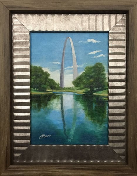 Reflection of Gateway Arch