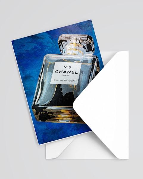 Chanel Blue Greeting Card