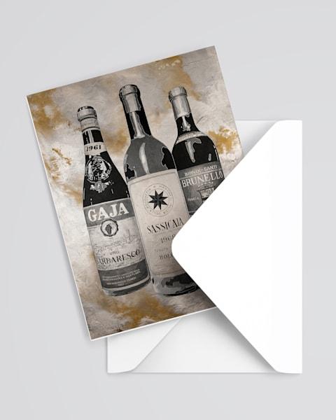 Italian Greatest Wines Greeting Card