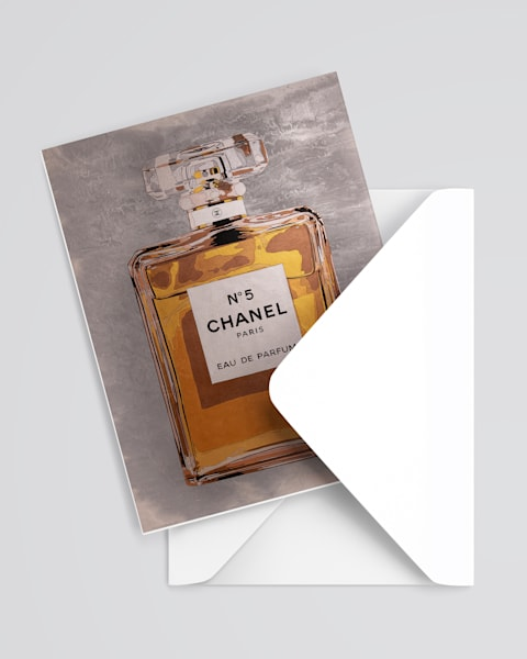 Chanel 5 Greeting Card