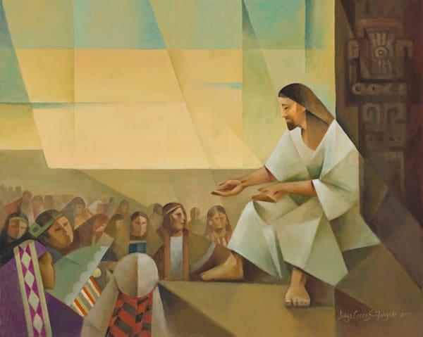 Jesus Preaches to the Multitude