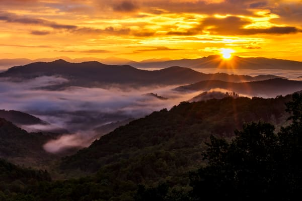 Fire over the Smokies - North Carolina fine-art photography prints