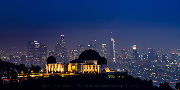 Los Angeles Skyline And The Griffith Observatory   Garage Sale Photography Art | William Drew Photography